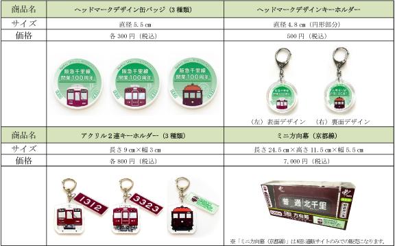 阪急電鉄 京都線の支線 千里線 開業100周年記念 記念グッズ販売